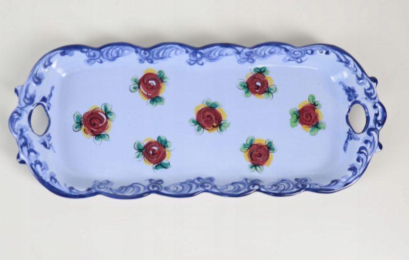Śliczny talerz, półmisek kwiaty Portugalia 185