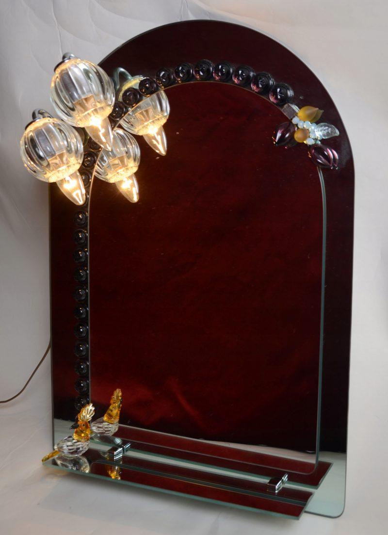 Piękne podświetlane lustro półka kinkiet Hiszp.869
