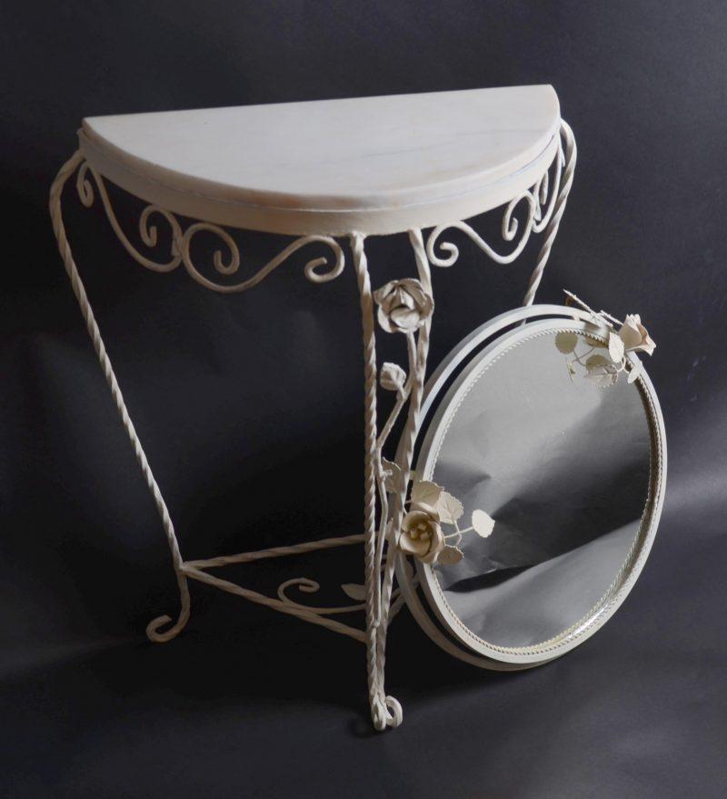 Komplet lustro i konsola/stolik z blatem Hiszp.867