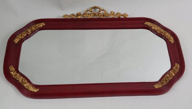 Piękne dekorowane lustro złote dekory Hiszp. 821