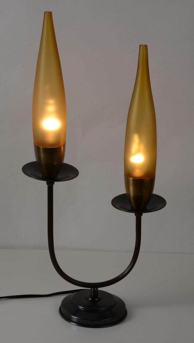 Art deco lampka nocna z kloszem Hiszp.40-127